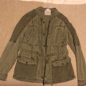 Anthropologie Hei Hei army green jacket